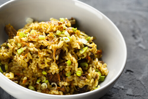 A Time to Shop beef fried rice