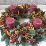 Dried Fruit Candle Wreaths
